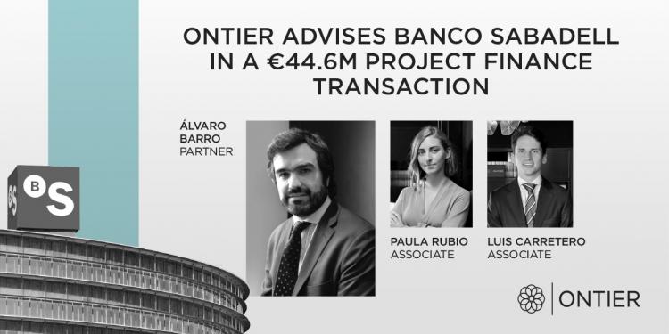 ONTIER asesora al Banco Sabadell en una operación fotovoltaica de 44,6M€