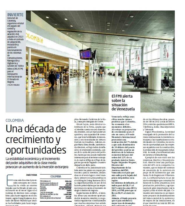 El Mundo destaca el incremento de los inversores extranjeros en Colombia, entre ellos, ONTIER