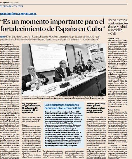 Iberoamérica Empresarial: Oportunidades de Negocio e Inversión en Cuba