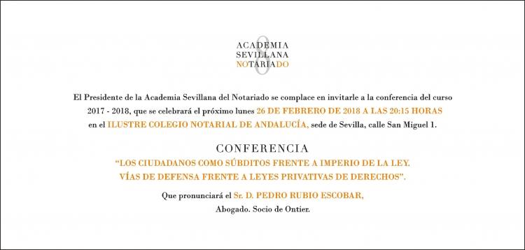 Evento: Conferencia anual del Ilustre Colegio Notarial de Andalucía