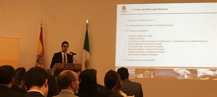 Energy Committee Presentation Event for New Goals at the Spanish Chamber of Commerce in Mexico